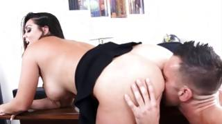 Incredible milfy with bigger ass has an intercourse with her strong and handsome slaver XXX