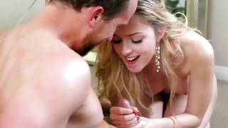 Blond proper chick is pounded raw core