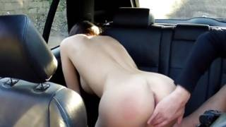 Slut with perfect meatballs sucking heavy dick